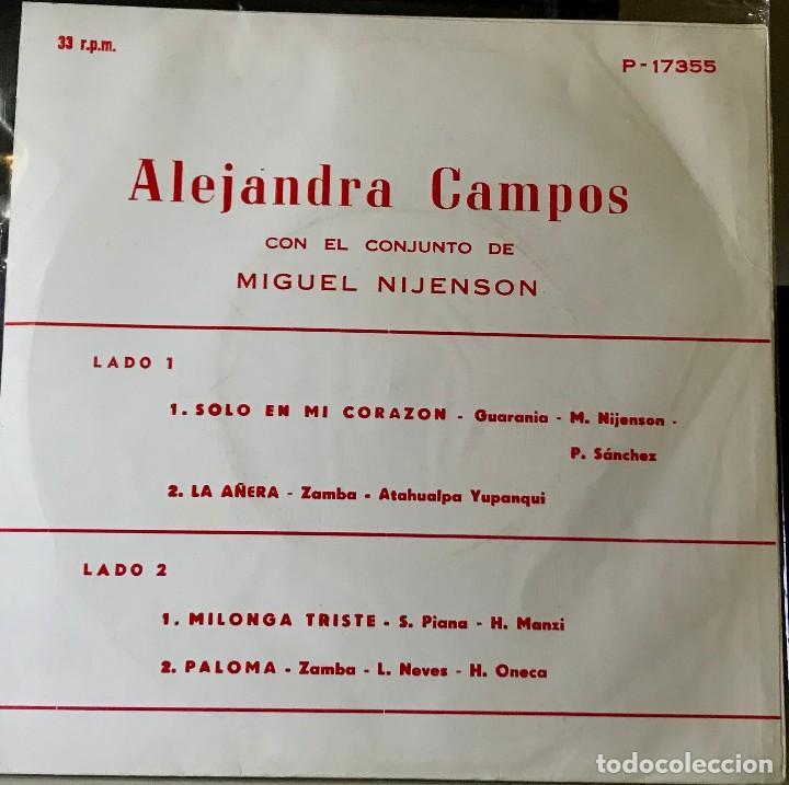 Discos de vinilo: EP argentino de Alejandra Campos año 1970 - Foto 2 - 27503094