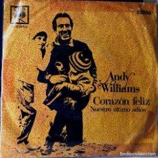 Discos de vinilo: SENCILLO ARGENTINO DE ANDY WILLIAMS AÑO 1969. Lote 36038516