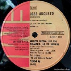 Discos de vinilo: DOS SENCILLOS ARGENTINOS DE JOSÉ AUGUSTO AÑO 1975. Lote 57222558