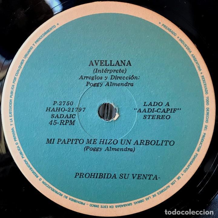 Discos de vinilo: Sencillo argentino de Avellana año 1980 - Foto 2 - 57222779
