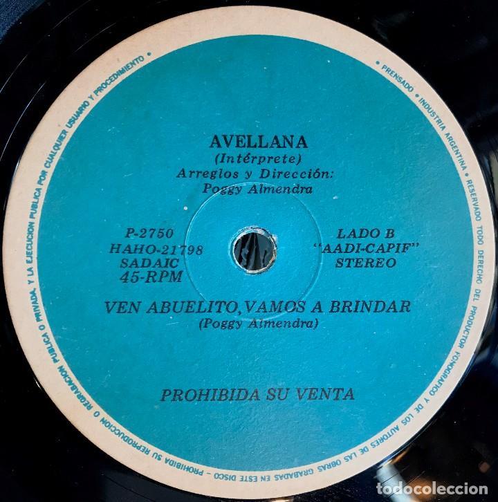 Discos de vinilo: Sencillo argentino de Avellana año 1980 - Foto 3 - 57222779