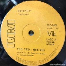 Discos de vinilo: SENCILLO ARGENTINO DE KATUNGA AÑO 1971. Lote 57265956
