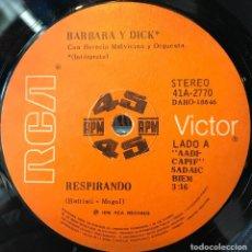 Discos de vinilo: SENCILLO ARGENTINO DE BÁRBARA Y DICK AÑO 1976. Lote 57684134