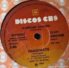 Discos de vinilo: SENCILLO ARGENTINO DE MASSIMO RANIERI EN ESPAÑOL E ITALIANO AÑO 1974. Lote 31105018