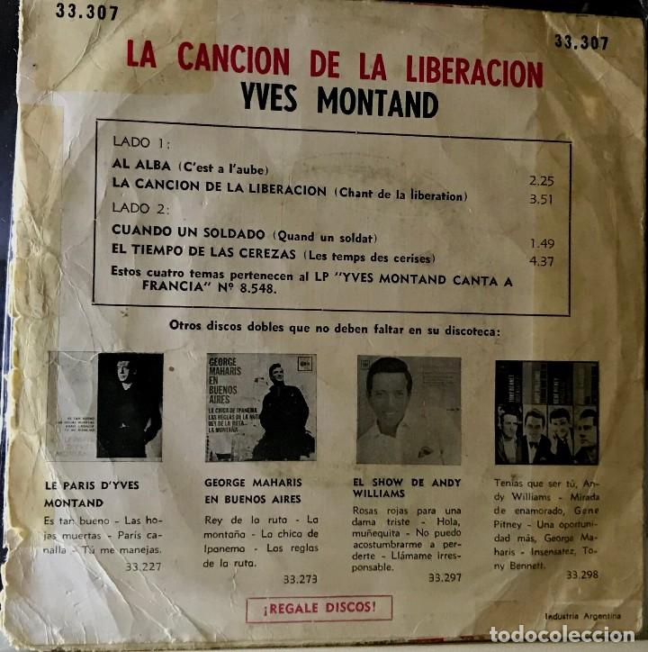 Discos de vinilo: EP argentino de Yves Montand año 1968 - Foto 2 - 56469710
