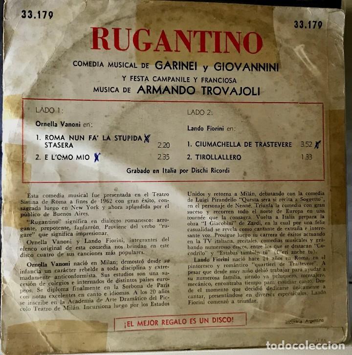 Discos de vinilo: Split EP argentino de Ornella Vanoni y Lando Fiorini año 1963 - Foto 2 - 38097474