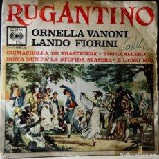 Discos de vinilo: SPLIT EP ARGENTINO DE ORNELLA VANONI Y LANDO FIORINI AÑO 1963. Lote 38097474