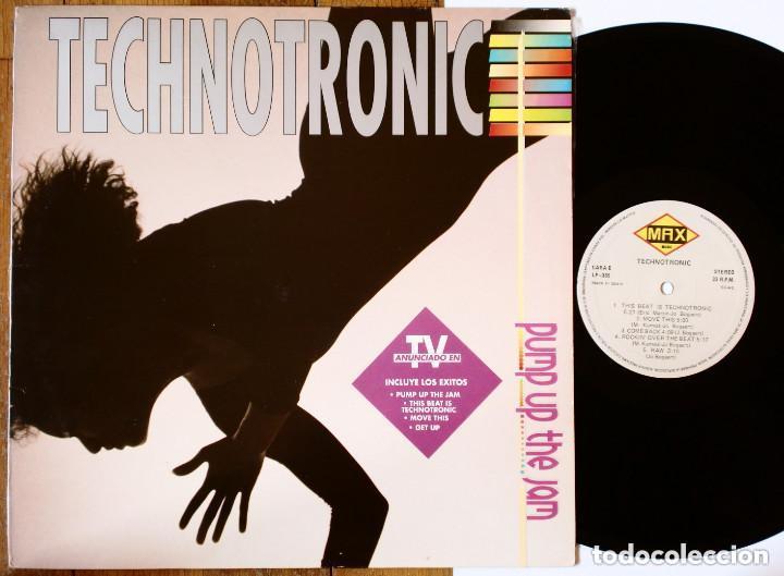 LP: TECHNOTRONIC - PUMP UP THE JAM (MAX MUSIC) SPAIN - CLASSIC VINTAGE 80'S DISCO MUSIC - (Música - Discos - LP Vinilo - Techno, Trance y House)