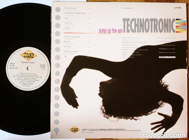 Discos de vinilo: LP: TECHNOTRONIC - Pump Up the Jam (Max Music) Spain - Classic Vintage 80s Disco Music - - Foto 2 - 184244637