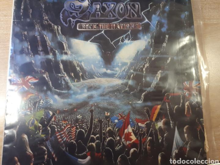 SAXON ROCK THE NATIONS (Música - Discos - LP Vinilo - Pop - Rock - Extranjero de los 70)