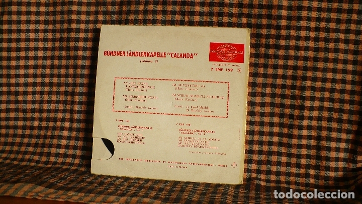 Discos de vinilo: Bündner Ländlerkapelle Calanda, Vol. 2, La Voix De Son Maître ?– 7 EMF 159, francia. - Foto 2 - 184256713