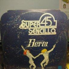 Discos de vinilo: MAXI SUPER 45 : UN GRUPO LLAMADO BERTA - ROCK AND ROLL PARTY . Lote 184261442