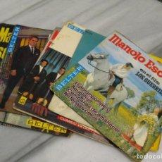 Discos de vinilo: LOTE DE 12 DISCOS SINGLES DE MANOLO ESCOBAR. 17,5CM. Lote 184270163