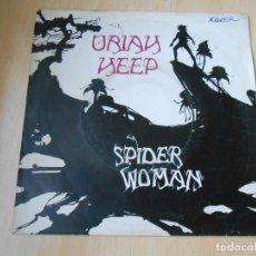 Discos de vinilo: URIAH HEEP, SG, SPIDER WOMAN + 1, AÑO 1972. Lote 184273933