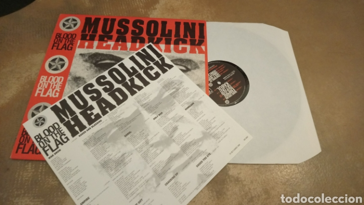 Discos de vinilo: Mussolini Headkick–Blood On The Flag - vinilo edición Bélgica 1990.buen estado - Foto 3 - 184276701