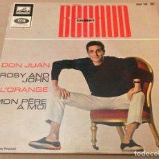 Disques de vinyle: GILBERT BECAUD. DON JUAN +3. . Lote 184288370