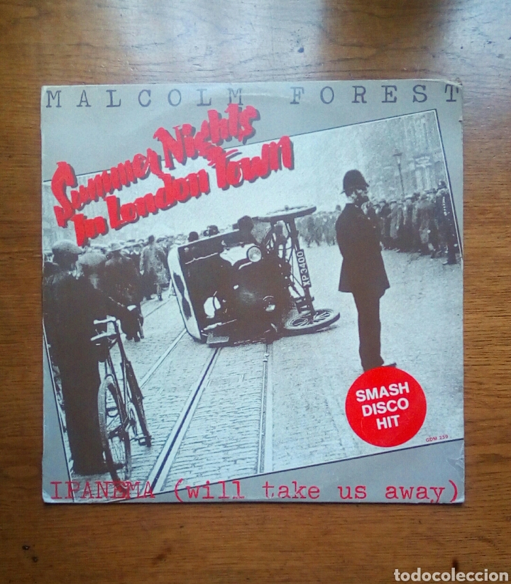 MALCOLM FOREST - SUMMER NIGHTS IN LONDON TOWN, GOLD DISC, 1980. FINLAND. (Música - Discos de Vinilo - Maxi Singles - Funk, Soul y Black Music)