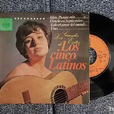 Discos de vinilo: LOS CINCO LATINOS. E.P. ADIOS PAMPA MIA. AÑO 1.966. EDITADO POR CBS. Lote 184294481