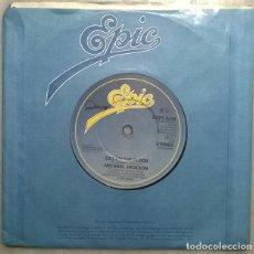Discos de vinilo: MICHAEL JACKSON. ROCK WITH YOU/ GET ON THE FLOOR. EPIC, UK 1979 SINGLE. Lote 184299485
