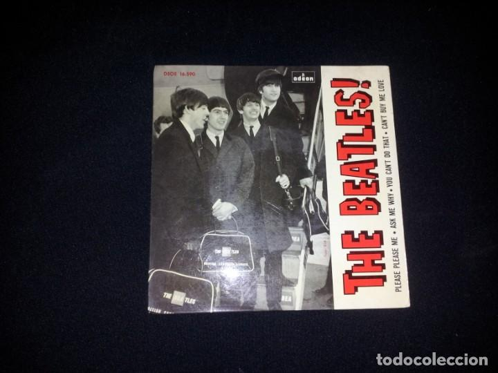 Discos de vinilo: THE BEATLES - PLEASE PLEASE ME, ASK ME WHY, YOU CANT DO THAT, CANT BUY ME LOVE - ODEON 1964 - Foto 3 - 184303163