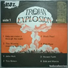 Disques de vinyle: TROJAN EXPLOSION: JOHN HOLT/ TITO SIMON/ HORACE FAITH/ BOB AND MARCIA. MAXI TROJAN, UK 1979 EP. Lote 184310586
