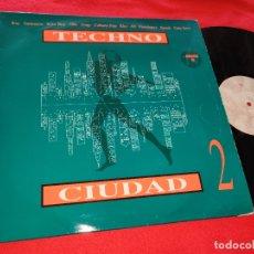 Discos de vinilo: TECHNO CIUDAD 2 LP 1993 DRO KKO+FARMLOPEZ+CETU JAVU+OBK+RAY+SANTUARIO+ASAP+CABARET POP. Lote 184337401