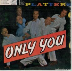 Dischi in vinile: THE PLATTERS - ONLY YOU/WHY SHOULD/REMEMBER WHEN/HEAVEN ON EARTH (EP ESPAÑOL, MERCURY RECORDS). Lote 184338412