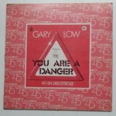 Discos de vinilo: GARY LOW. – YOU ARE A DANGER. MAXI SINGLE. TDKDA70. Lote 184349300