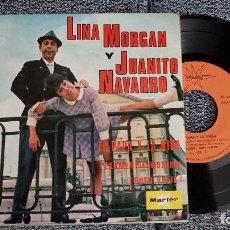 Discos de vinilo: LINA MORGAN Y JUANITO NAVARRO - EP. EL PAPÁ Y LA NIÑA. AÑO. 1.968. EDITADO POR MARFER.. Lote 184360335