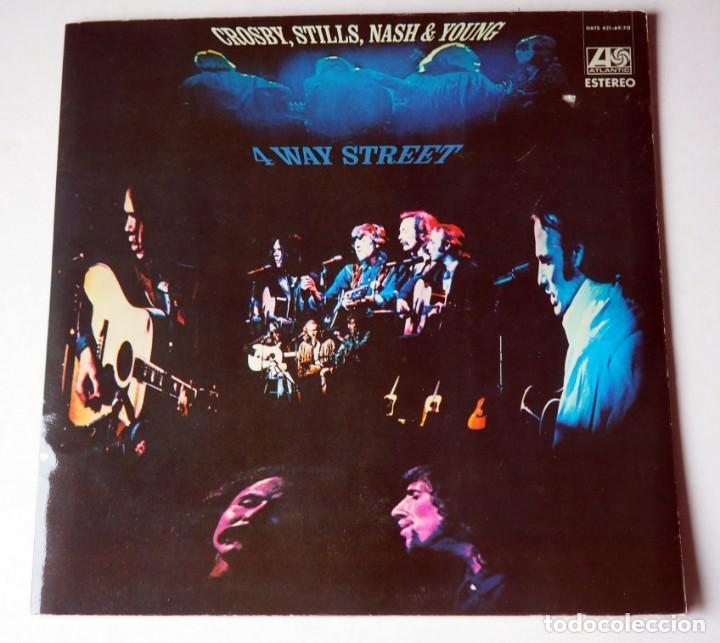DOBLE LP. CROSBY, STILLS, NASH & YOUNG. 4WAY STREET. AÑO 1970 (Música - Discos de Vinilo - EPs - Pop - Rock Internacional de los 70)