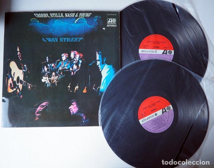 Discos de vinilo: DOBLE LP. CROSBY, STILLS, NASH & YOUNG. 4WAY STREET. AÑO 1970 - Foto 4 - 184367056