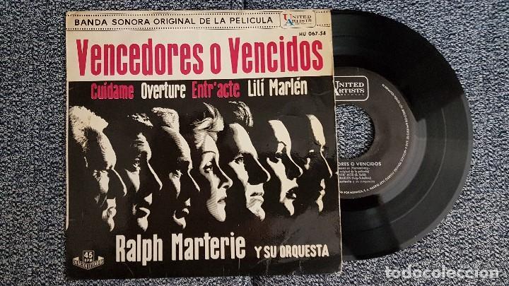 BANDA SONORA ORIGINAL PELÍCULA VENCEDORES O VEWNCIDOS.RALPH MARTERIE Y ORQUESTA. AÑO 1.962 (Música - Discos de Vinilo - EPs - Bandas Sonoras y Actores)