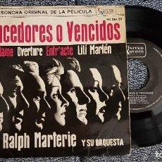 Discos de vinilo: BANDA SONORA ORIGINAL PELÍCULA VENCEDORES O VEWNCIDOS.RALPH MARTERIE Y ORQUESTA. AÑO 1.962. Lote 184368566
