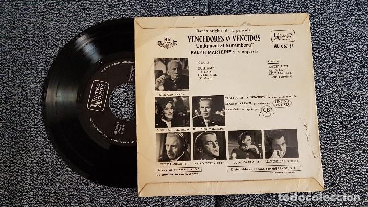 Discos de vinilo: Banda sonora original película Vencedores o Vewncidos.Ralph Marterie y orquesta. año 1.962 - Foto 2 - 184368566