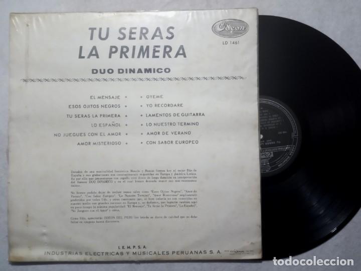 Discos de vinilo: DUO DINAMICO - tu seras la primera - LP PERUANO 1964 - ODEON - Foto 2 - 184372041