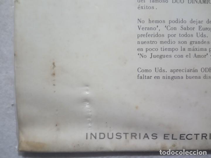 Discos de vinilo: DUO DINAMICO - tu seras la primera - LP PERUANO 1964 - ODEON - Foto 3 - 184372041