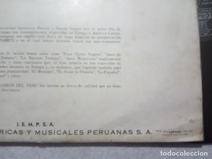 Discos de vinilo: DUO DINAMICO - tu seras la primera - LP PERUANO 1964 - ODEON - Foto 4 - 184372041