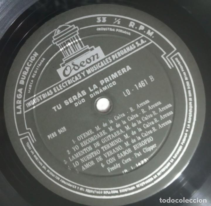 Discos de vinilo: DUO DINAMICO - tu seras la primera - LP PERUANO 1964 - ODEON - Foto 5 - 184372041