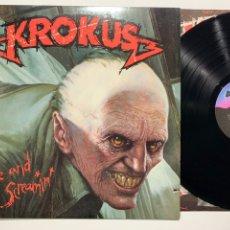 Discos de vinilo: DISCO LP VINILO KROKUS ALIVE AND SCREAMIN' EDICIÓN USA DE 1986. Lote 184376552