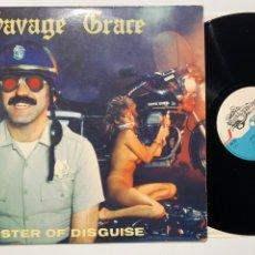 Discos de vinilo: DISCO LP VINILO SAVAGE GRAVE MASTER OF DISGUISE EDICIÓN ORIGINAL FRANCESA DE 1985. Lote 184377373