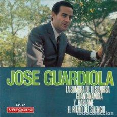 Discos de vinilo: JOSE GUARDIOLA - LA SOMBRA DE TU SONRISA - EP DE VINILO #. Lote 184382776