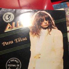 Discos de vinilo: ALICE – PER ELISA. Lote 184397397