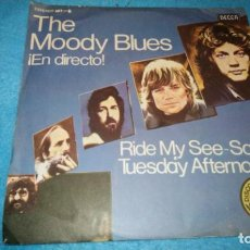 Discos de vinilo: THE MOODY BLUES - RIDE MY SEE-SAW / A SIMPLE GAME. Lote 184398475