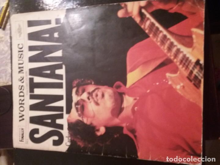REVISTA CON PARTITURA DE SANTANA WORDS MUSIC (Música - Discos de Vinilo - Maxi Singles - Rock & Roll)