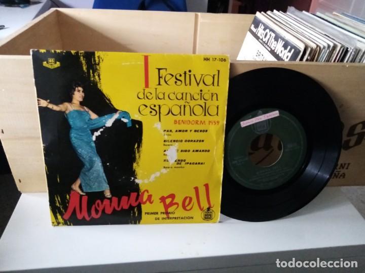 MONNA BELL FESTIVAL DE LA CANCIÓN ESPAÑOLA BENIDORM 1959 (Música - Discos de Vinilo - EPs - Otros estilos)