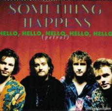 Disques de vinyle: SOMETHING HAPPENS - HELLO, HELLO, HELLO, HELLO / BOYS (SINGLE INGLES, VIRGIN 1990). Lote 184437748