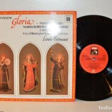 Discos de vinilo: POULENC - GLORIA - PIANO CONCERTO - QUADRAPHONIC EMI ESPAÑA 1978 NM/EX. Lote 184440250