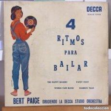 Discos de vinilo: BERT PAIGE 4 RITMOS PARA BAILAR EP DECCA ESPAÑA AÑO 1959. Lote 184443858