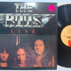 Discos de vinilo: DISCO LP VINILO THE RODS LIVE EDICIÓN INGLESA DE 1983. Lote 184446138