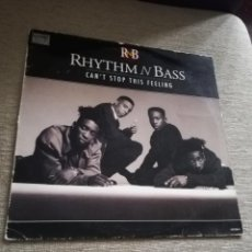 Discos de vinilo: RHYTHM N BASS - CAN'T STOP THIS FEELING. Lote 184447975